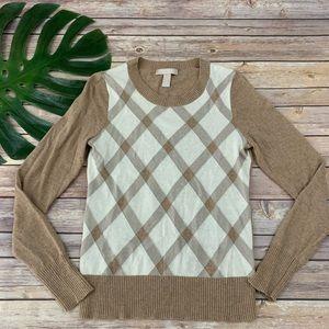 Banana Republic plaid merino wool blend sweater
